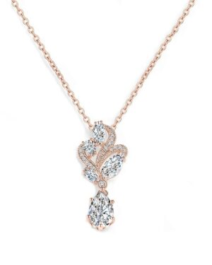Cubic Zirconia Collection – Bejewelled Necklace – Rose Gold